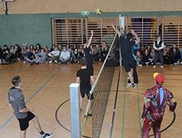 Spiel bei der Volleyballmeisterschaft 2018