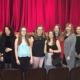 Gruppenfoto im Landestheater vor der Bühne