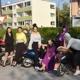 Gruppenfoto bei den Mopeds - Magic Garnment