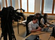 Filmaufnahmen der Schüler im EDV-Raum