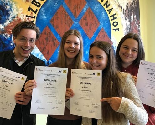Gewinner des Sprachenbewerbs der HLWM Salzburg